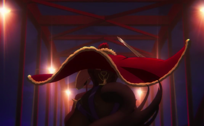 Fate/Zeroで最後の戦いに向かうイスカンダルの背中